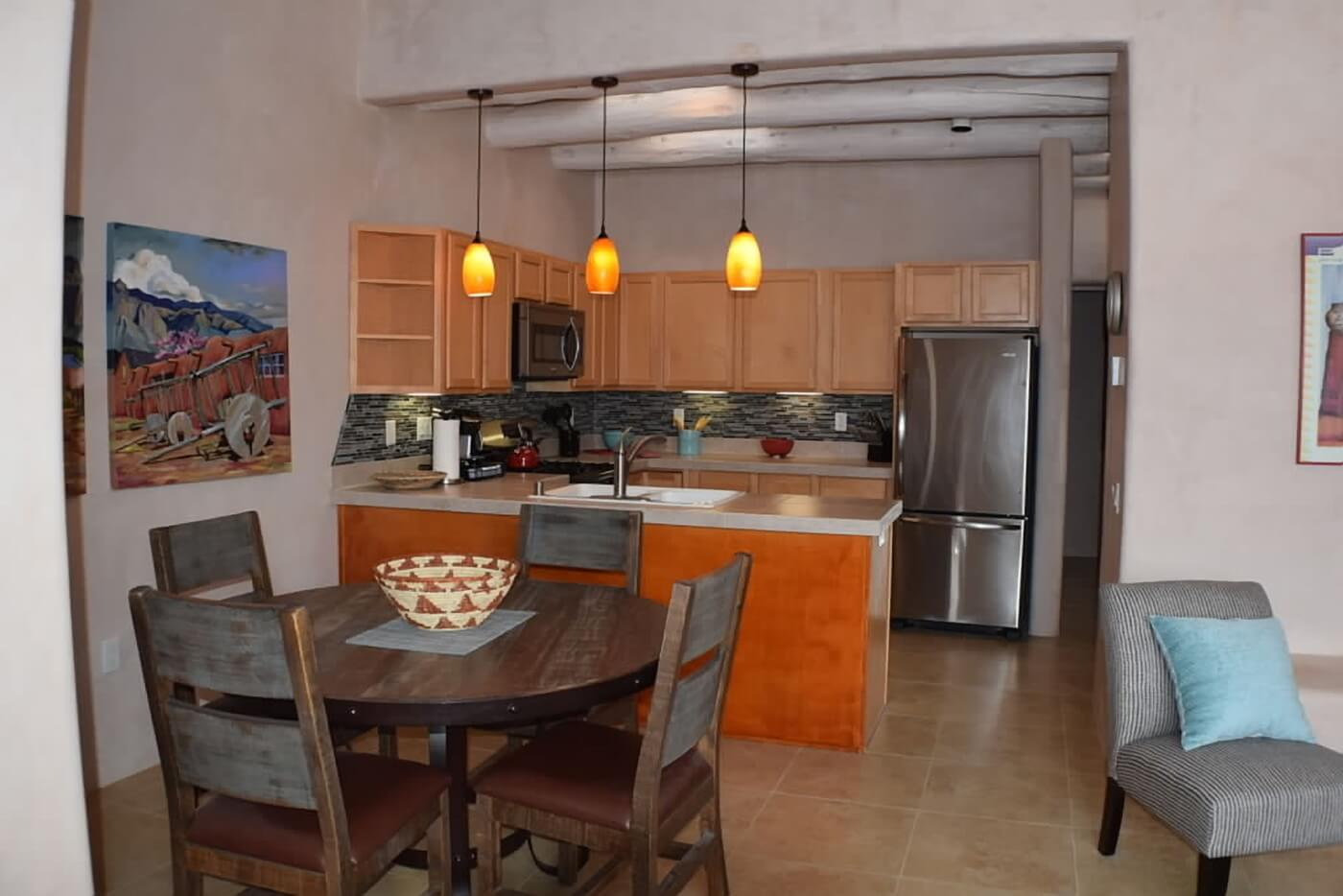 Taos vacation rental aire fresca kitchen