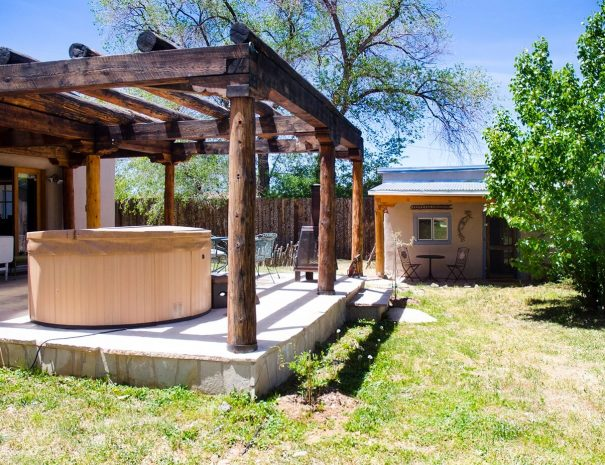 Taos Vacation Rental home hot tub