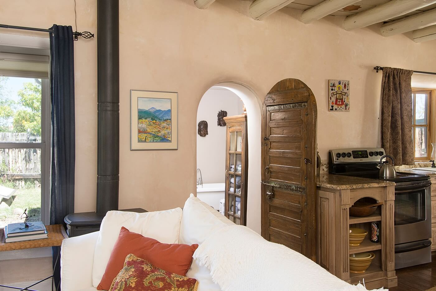 Taos Vacation Rental home living room