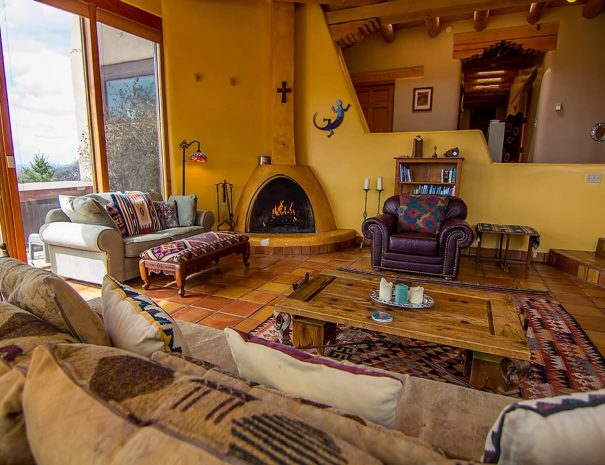 Taos Vacation Rental Home kiva fireplace