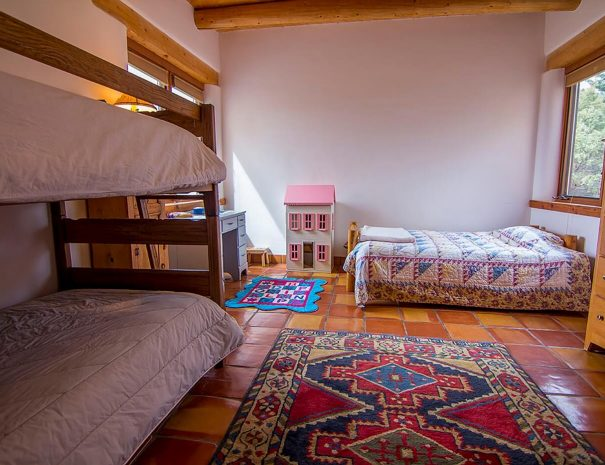 Taos Vacation Rental Home bunk rooms