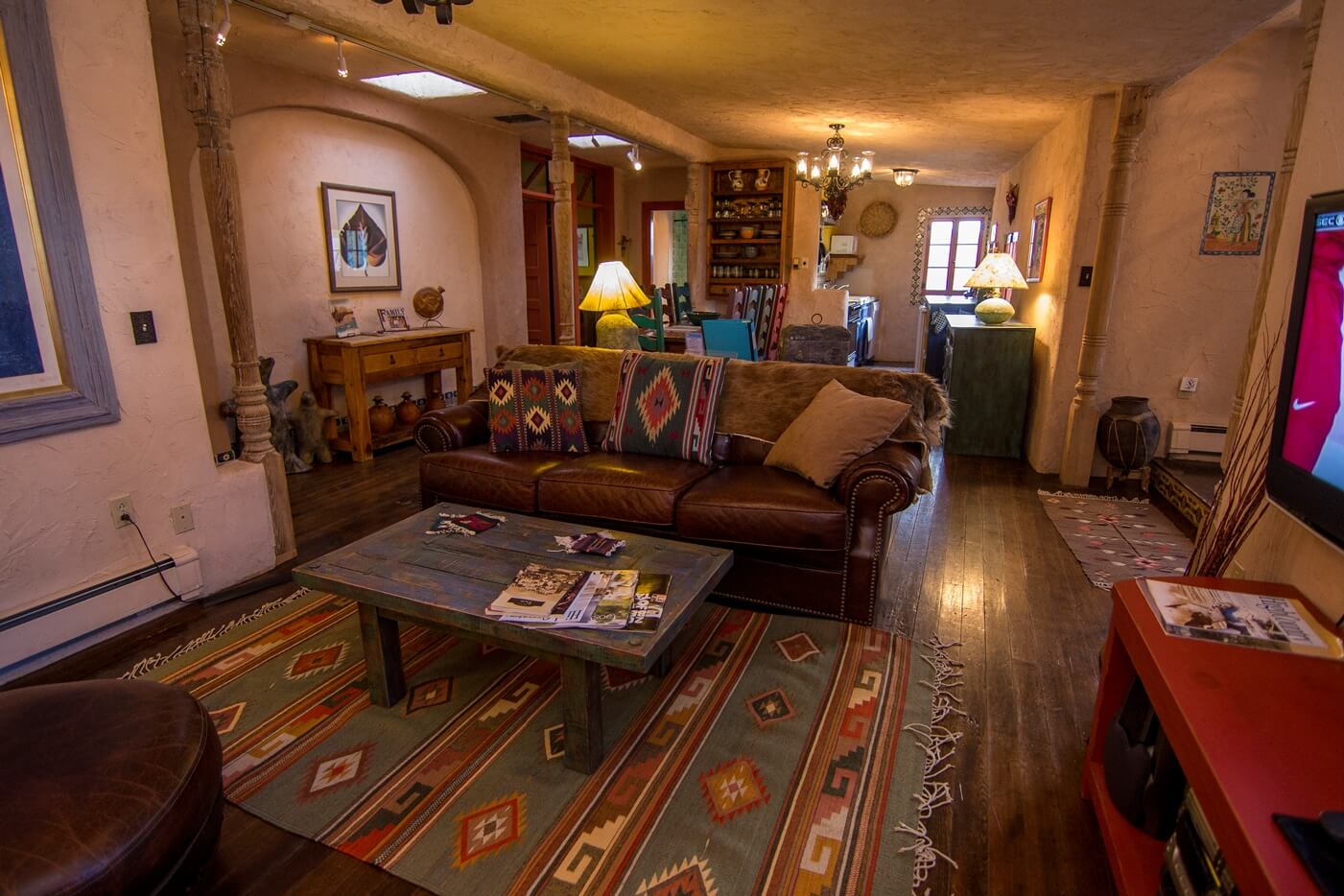 Historical Taos Vacation rental layout