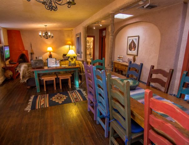 Historical Taos Vacation rental kitchen