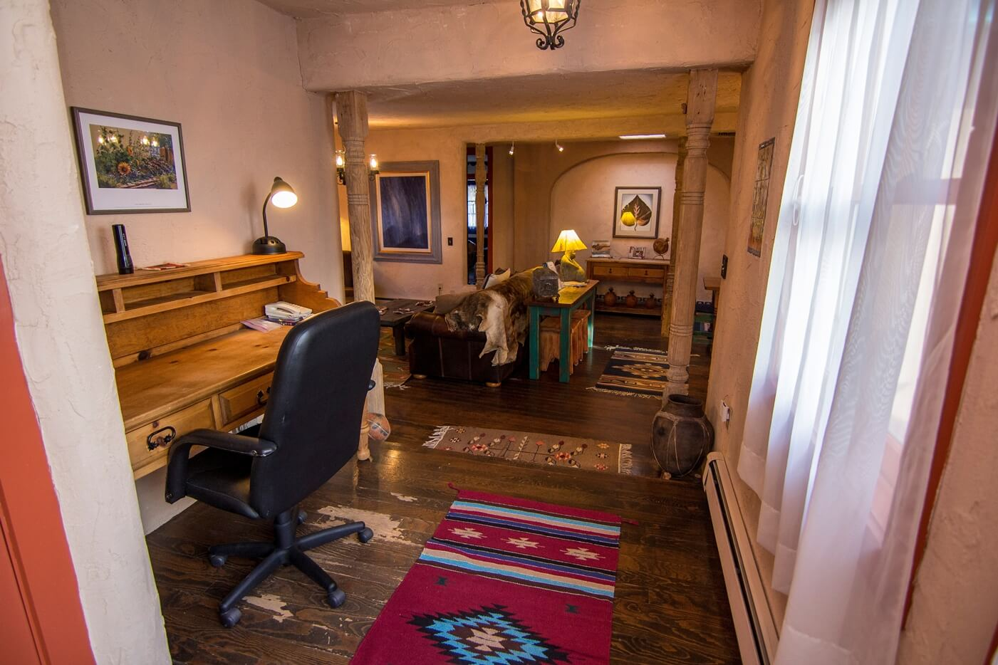 Historical Taos Vacation rental living room