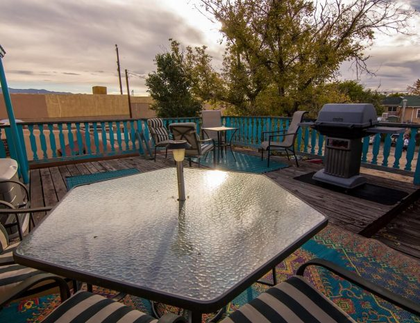 Historical Taos Vacation rental outdoor dining
