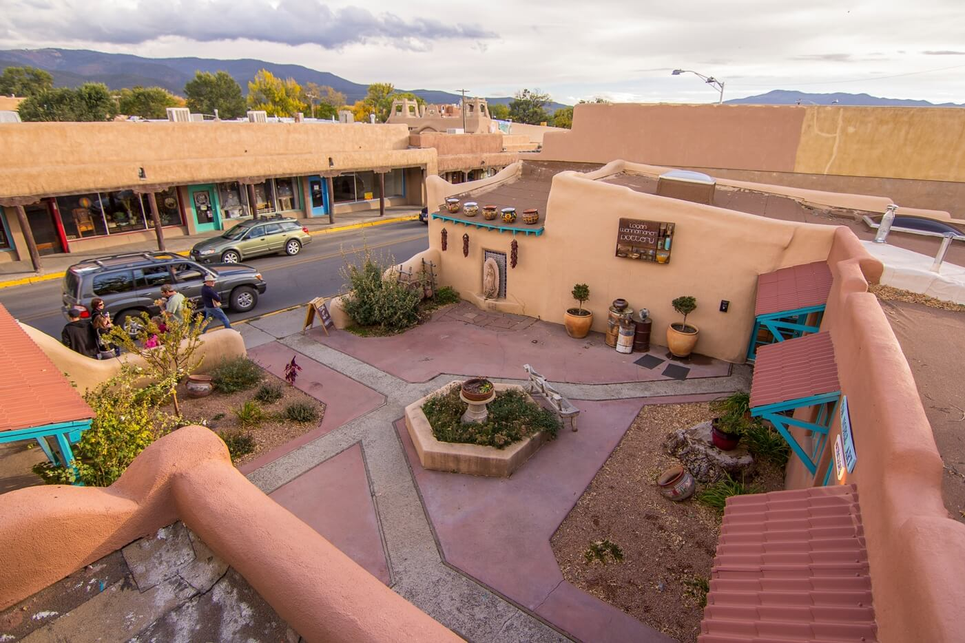 Historical Taos Vacation rental rooftop view