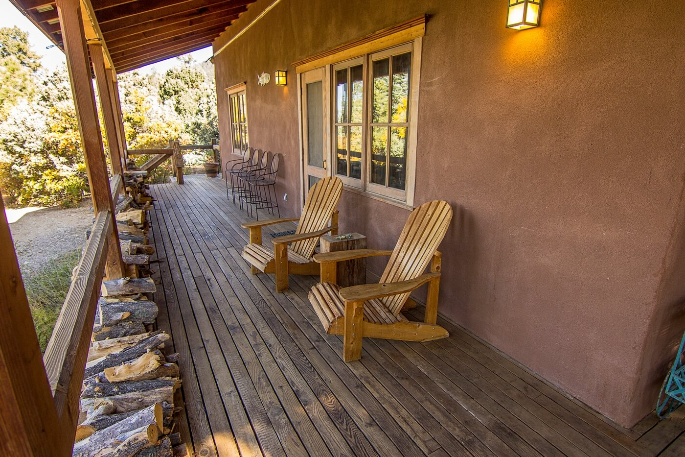 Taos Vacation Rental Home porch