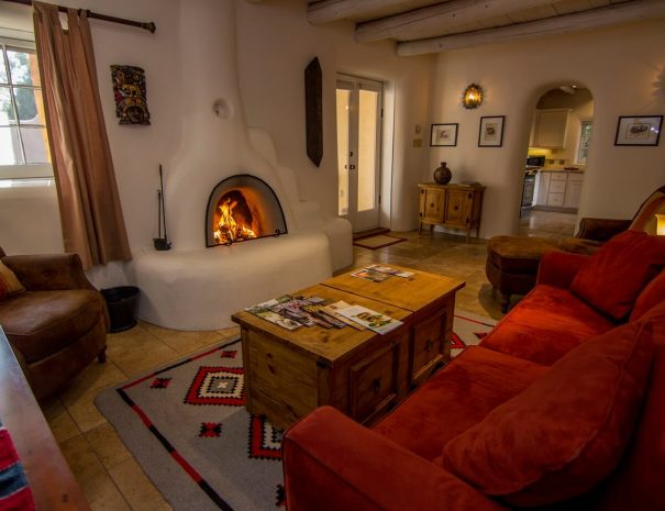 Taos Vacation Rental Home kiva fire